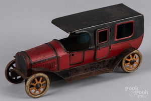 German tin lithograph wind-up sedan