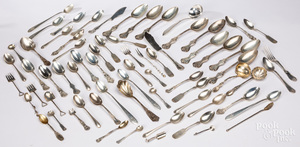 Miscellaneous group of sterling silver flatware