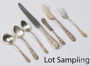 Baltimore sterling silver flatware service
