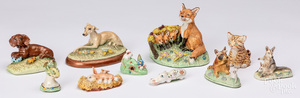 Collection of Basil Matthews animal figures.