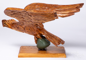 MB McKee carved eagle