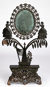 Jenny Lind cast iron dressing mirror