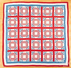 Patriotic patchwork quilt