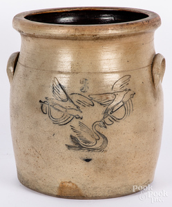 Maine three-gallon stoneware crock