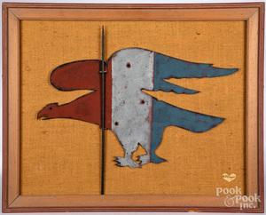 Ellinger painted pressboard eagle weathervane