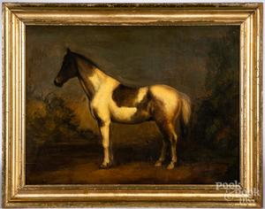 Peter Ompir, oil on board horse portrait