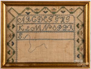 Three silk on linen samplers