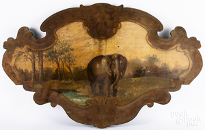 Large painted carousel plaque