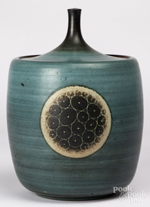 Harrison McIntosh studio pottery covered jar