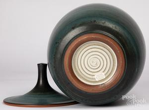 Harrison McIntosh studio pottery covered jar