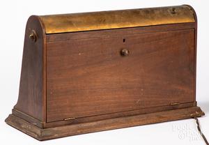Elgin Watches mahogany display case