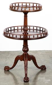 Chippendale style mahogany dumbwaiter