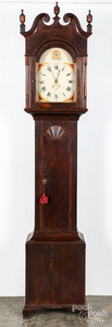 Pennsylvania poplar tall case clock