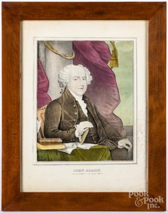 Four N. Currier presidential color lithographs