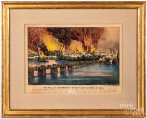 Currier & Ives The Fall of Richmond lithograph