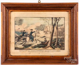 Three Civil War color lithographs