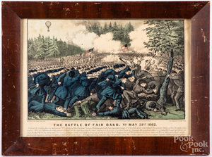 Four Currier & Ives Civil War color lithographs