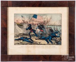 Four Currier & Ives Civil War color lithographs