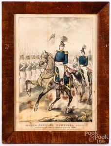 Three Civil War color lithographs