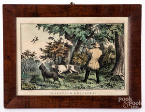N. Currier Woodcock Shooting color lithograph