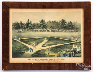 Currier & Ives baseball lithograph