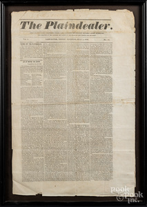 Group of early newspapers