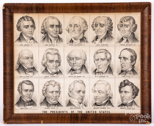 C. E. Lewis Presidents of the United States lithograph