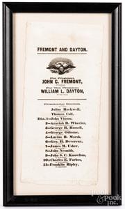 1856 presidential broadside