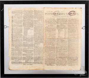 Two Pennsylvania Gazette newspapers