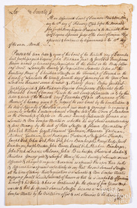 Lancaster County, Pennsylvania 1794 report of inquisition