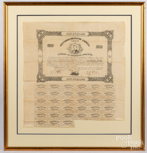 Confederate States one hundred dollar loan