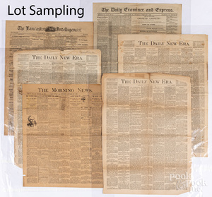Collection of newspapers