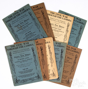Nine volumes of The Civil War Through the Camera