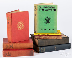 Group of Mark Twain books