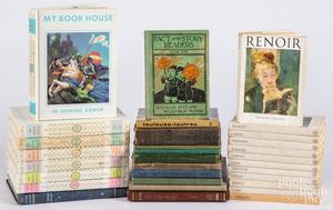 Twelve volumes of art books, etc.