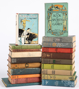 Group of boys' books