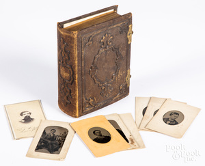 Photo album, with tin types and CDV's