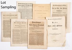 Civil War newspapers, political booklets, etc.