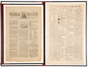 Two 18th c. Pennsylvania Packet newspapers