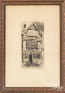 Two signed etchings
