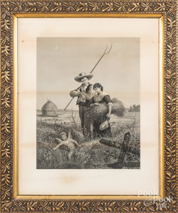 William Wellstood Cupid's Harvest lithograph