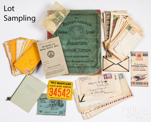 Large group of miscellaneous stamps and ephemera