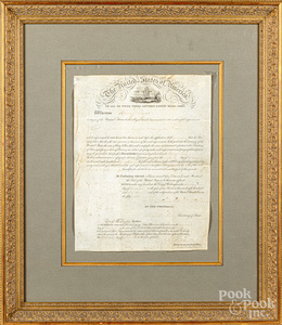 Andrew Jackson signed patent document on vellum