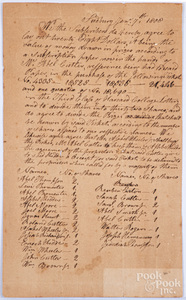 1808 Third Class of Harvard College document