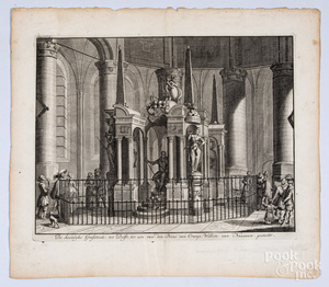 1730 etching of the tomb of William I of Nassau