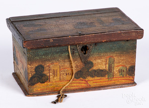 Continental painted dresser box