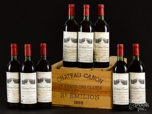Chateau Canon St. Emilion 1982, 8 bottles