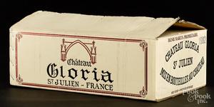 Chateau Gloria St. Julien 1982, 12 bottles