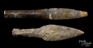 Two Danish Neolithic flint daggers