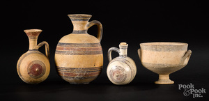 Four pieces of Cypriot pottery